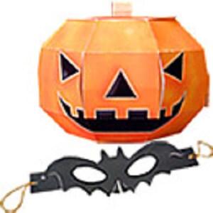 かぼちゃとコウモリの仮面 (1)