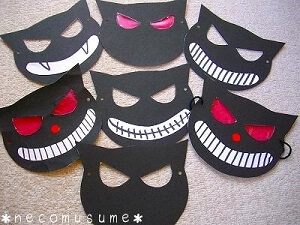 黒猫のお面 (1)